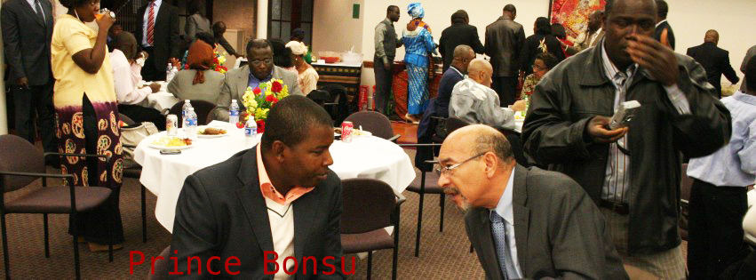 Prince Bonsu Nana Donkor agent working in social events recruiting possible investors